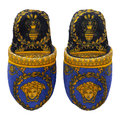 Versace Home - I Love Baroque Slippers - Black/Blue/Gold
