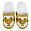 Versace Home - Les Coupe Des Dieux Slippers - Grey/White/Gold