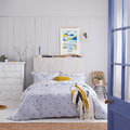 Joules - Botanical Bee Duvet Cover - Blue - Super King