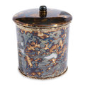 Julia Knight - Cascade Covered Canister - Rainbow Bronze