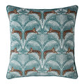 Fat Face - Lounging Leopards Cushion - Fern Green - 45x45cm