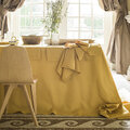 Alexandre Turpault - Nappe Florence - 170x170 - Mimosa