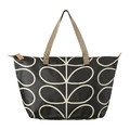 Orla Kiely - Linear Stem Zip Shopper Bag - Liquorice