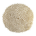 Chilewich - Pressed Vinyl Dahlia Round Placemat - Brass