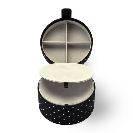 kate spade new york - Travel Jewelry Organizer - Black Dot