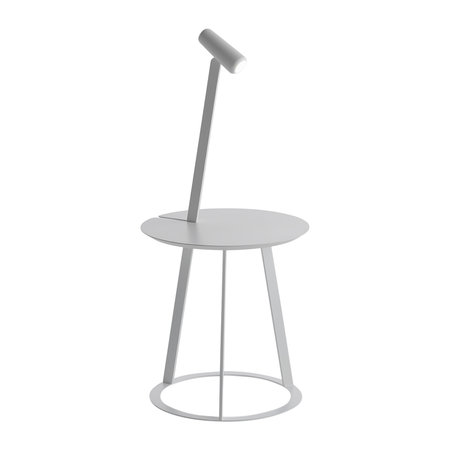 Horm & Casamania - Lampe et table d'appoint Albino - Blanc