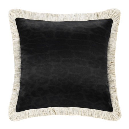 Roberto Cavalli - Monogram Reversible Cushion - Grey - 40x40cm