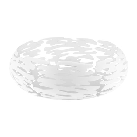 Alessi - Barknest Round Dish - Stainless Steel - White