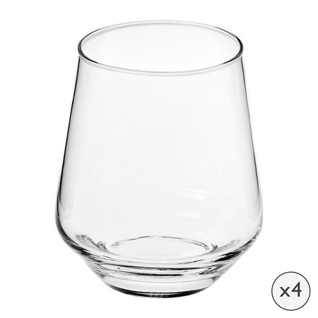A by Amara - Tapered Glass Tumbler - Set of 4