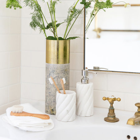 A by Amara - White Marble Soap Dispenser