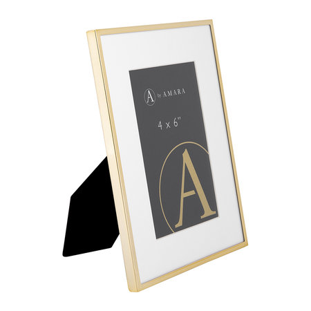 """A by AMARA - Gold Plated Steel Photo Frame - 4x6"""""""