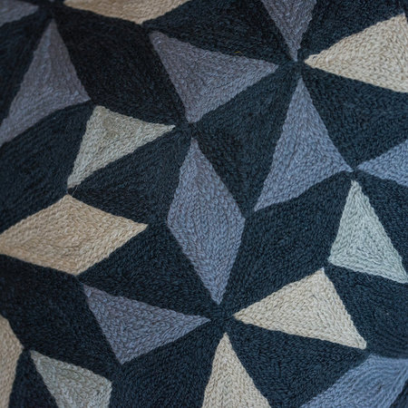 Niki Jones - Kaleidoscope Cushion - 50x50cm - Grey Tones