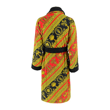 Versace Home - I Love Baroque Bathrobe - Red/Gold/Black
