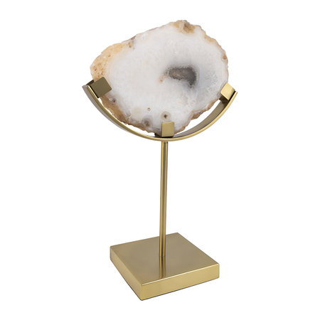 Luxe - Agate Slice Object - White