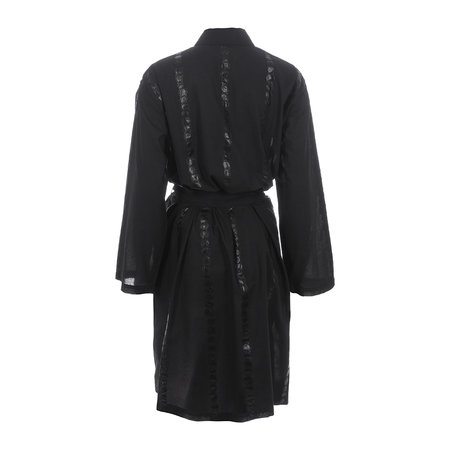 A by AMARA - Bubble Embroidered Bathrobe - Black