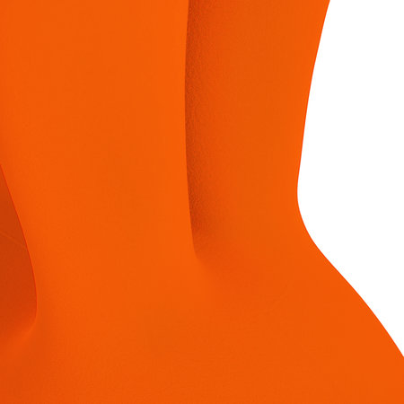 Qeeboo - Flocked Rabbit Chair - Orange - Large