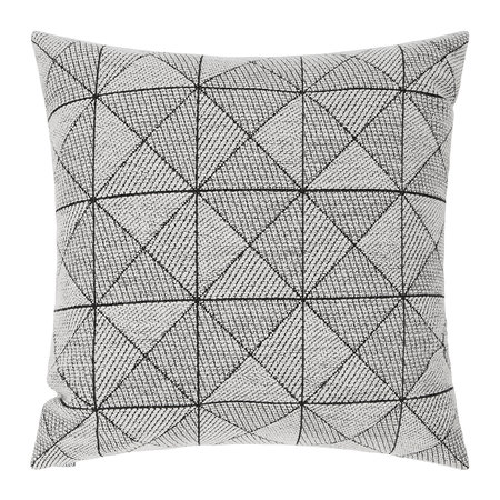 Muuto - Tile Wool Cushion - 45x45cm - Black/White