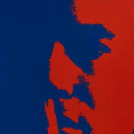 Ligne Blanche - Andy Warhol Plate - Self Portrait - Blue/Red