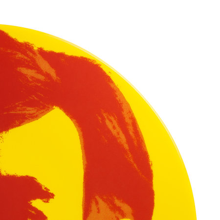 Ligne Blanche - Andy Warhol Plate - Self Portrait - Red/Yellow