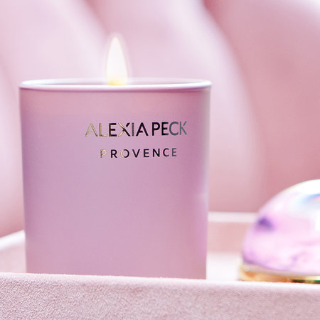 Alexia Peck - Provence Candle & Paperweight - White Geranium & Lavender