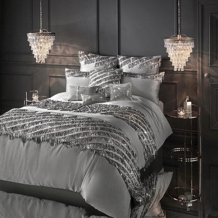 Kylie Minogue at Home - Eliza Quilt Cover - Pewter - Double