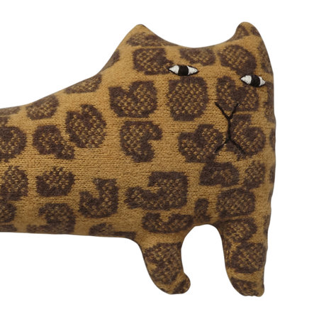 Donna Wilson - Knitted Lambswool Creature - Lenny Leopard - Lenny Leopard