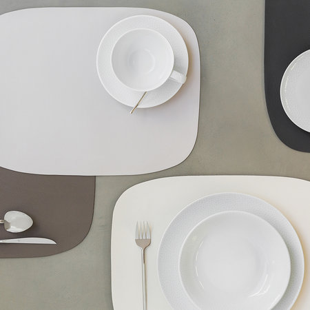 A by Amara - Vegan Leather Placemat - Taupe