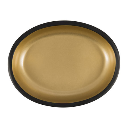 Bathroom Origins - Black & Gold Resin Soap Dish