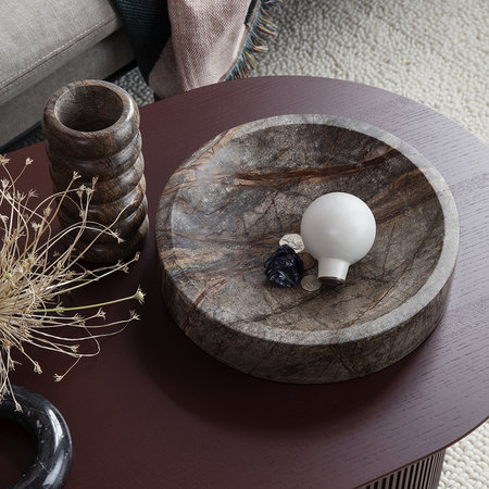 Ferm Living - Brown Marble Scape Bowl