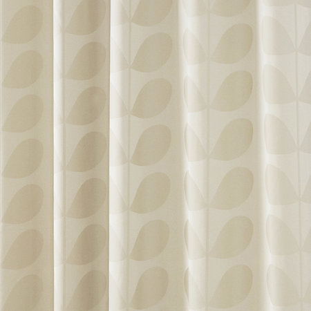 Orla Kiely - Jacquard Stem Eyelet Curtains - Clay - 229x229cm