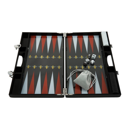 casacarta - Lacquered Backgammon Set - Red/White Bee