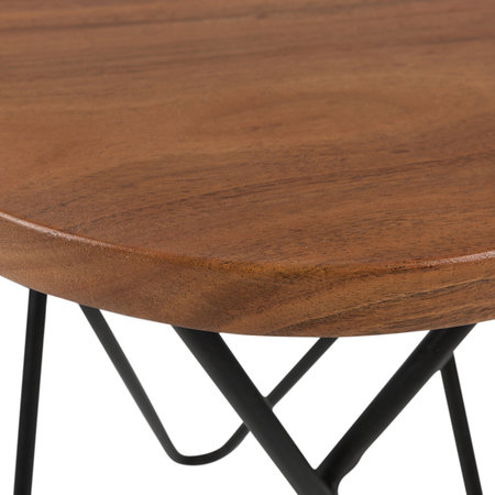 A by AMARA - Round Wooden Side Table