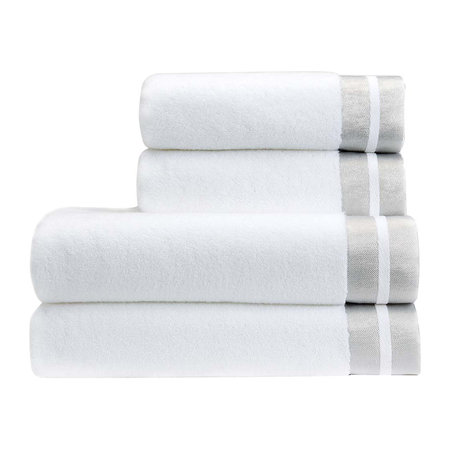 Christy - Mode Towel - White/Silver - Hand Towel