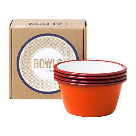 Falcon - Set of 4 Bowls - Pillarbox Red
