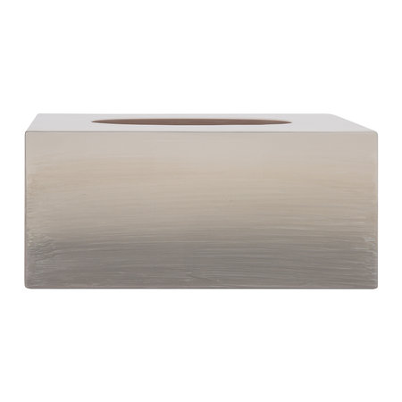 Mike + Ally - Ombre Long Tissue Box - Natural Gold