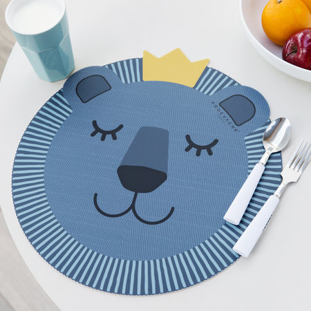 PODEVACHE - Blue Lion Face Vinyl Placemat