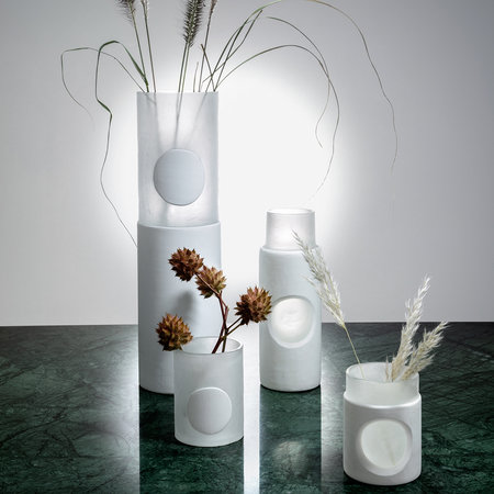 Tom Dixon - Carved Vase - White - Small