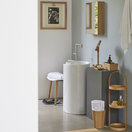 Wireworks - Slimline Bathroom Cabinet - Oak