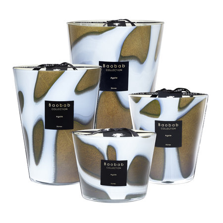 Baobab Collection - Stones Agate Scented Candle - 35cm