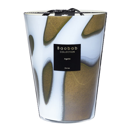 Baobab Collection - Stones Agate Scented Candle - 24cm