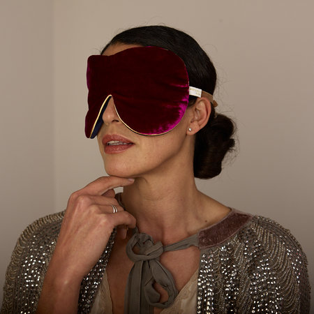 Holistic Silk - Limited Edition Velvet Lavender Eye Mask - Pink