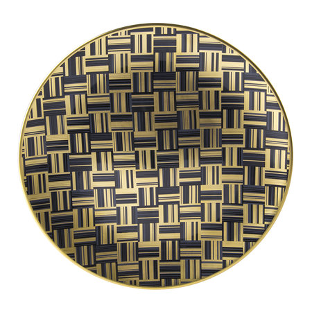 Royal Crown Derby - Broadway Salad Plate - Black/Gold/White