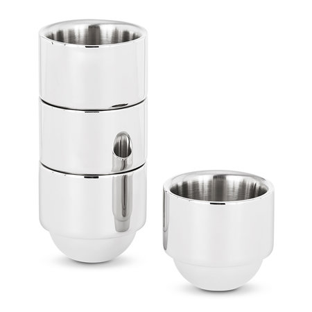 Tom Dixon - Brew Espresso Cups - Set of 4 - Stainless Steel