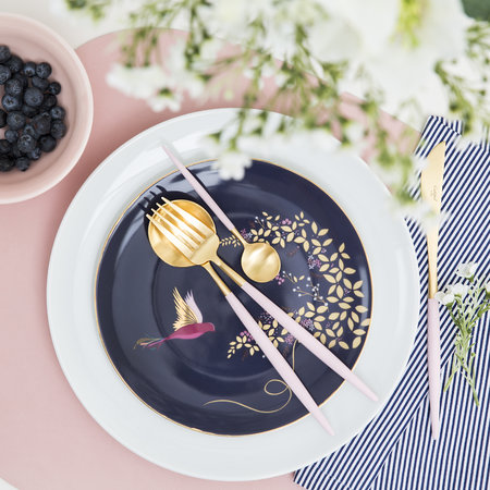 Cutipol - Goa Table Spoon - Pink/Gold