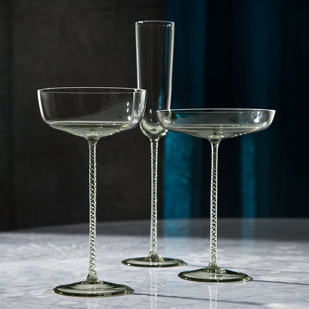 LSA International - Champagne Theatre Saucer - Set of 2 - Smoke Grey