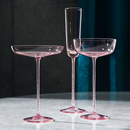 LSA International - Soucoupe Théâtre Champagne - Lot de 2 - Rose Aurore