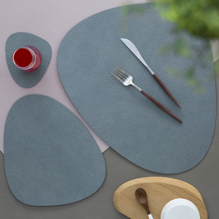LIND DNA - Hippo Curve Table Mat - Light Blue - Small