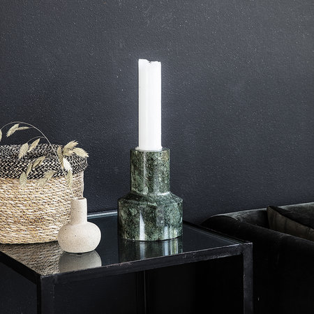 House Doctor - Chunk Candle Holder - Green