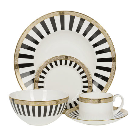 Royal Crown Derby - Satori Saucer - Black