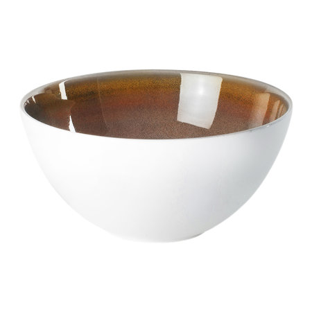 Royal Crown Derby - Art Glaze Cereal Bowl - Flamed Caramel